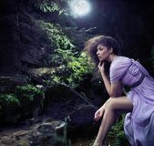 Donna sveglia Fotografie Stock