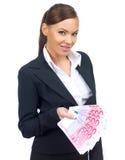 Donna sveglia di affari Immagini Stock