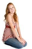 Donna sveglia di Redhead Immagini Stock