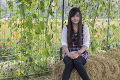 Donna tailandese Immagini Stock