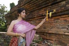 Donna Tailandia del nord di Lanna Fotografia Stock