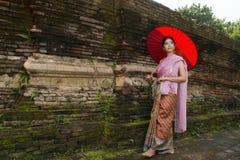 Donna Tailandia del nord di Lanna Immagini Stock