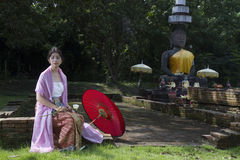 Donna Tailandia del nord di Lanna Fotografia Stock Libera da Diritti