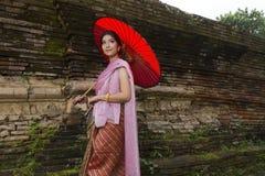Donna Tailandia del nord di Lanna Immagini Stock Libere da Diritti