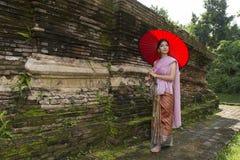 Donna Tailandia del nord di Lanna Immagine Stock Libera da Diritti