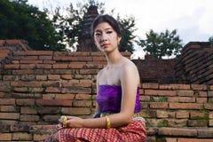 Donna Tailandia del nord di Lanna Immagine Stock