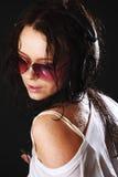 Donna in telefoni Fotografie Stock