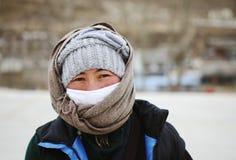 Donna tibetana Fotografie Stock Libere da Diritti