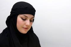 Donna timida di islam Fotografia Stock Libera da Diritti