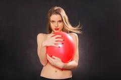 Donna topless attraente Fotografie Stock Libere da Diritti