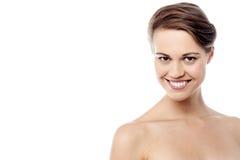 Donna topless che posa alla macchina fotografica Fotografia Stock Libera da Diritti