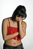 Donna triste Fotografie Stock Libere da Diritti