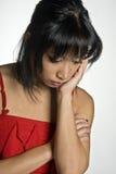Donna triste Fotografia Stock Libera da Diritti