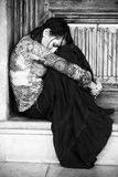 donna triste del ritratto Fotografia Stock