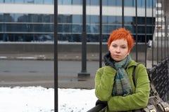 Donna triste e sola Fotografie Stock Libere da Diritti