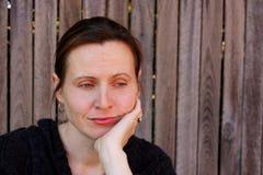 donna triste sembrante atttractive Fotografia Stock