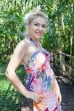 Donna in tropici fotografia stock