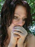 Donna turbata 2 Immagini Stock Libere da Diritti
