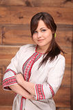 Donna ucraina in costume tradizionale Fotografie Stock Libere da Diritti