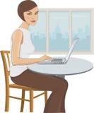 Donna in ufficio Immagini Stock