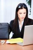 Donna in ufficio Immagine Stock Libera da Diritti