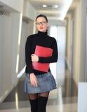 Donna in ufficio Fotografie Stock