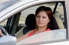 Donna in un'automobile Fotografia Stock Libera da Diritti