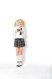 Donna in un uniforme scolastico Immagini Stock Libere da Diritti