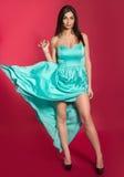 Donna in un vestito lungo Fotografia Stock