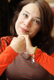 Donna, una bellezza di 40 s Fotografia Stock