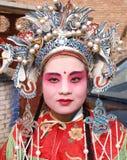 Donna verniciata del fronte Fotografie Stock