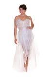 Donna vestita in involucro di bolla Immagine Stock