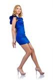 Donna in vestiti di modo Fotografie Stock Libere da Diritti