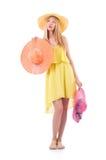 Donna in vestiti di modo Fotografie Stock