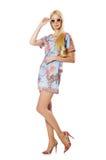 Donna in vestiti di modo Fotografia Stock
