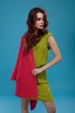 Donna in vestiti di modo Bello In Stylish Clothing di modello Immagine Stock
