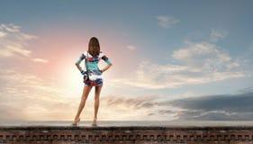 Donna in vestito Fotografia Stock
