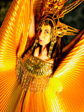 Donna in vestito da carnevale Fotografia Stock Libera da Diritti