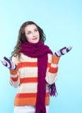 Donna in vestito da inverno fotografie stock