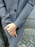 Donna in vestito di affari Immagini Stock Libere da Diritti