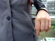 Donna in vestito di affari Fotografie Stock Libere da Diritti