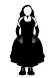 Donna in vestito nero immagine stock libera da diritti