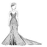 Donna in vestito a rete Illustrazione Vettoriale