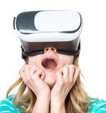 Donna in vetri di VR Fotografia Stock Libera da Diritti
