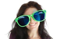 Donna in vetri pazzeschi Fotografia Stock Libera da Diritti