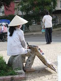 Donna Vietnam Fotografie Stock Libere da Diritti