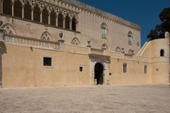 Donnafugata,西西里岛城堡  免版税库存图片