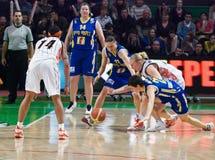 Donne 2009-2010 di EuroLeague. immagine stock libera da diritti