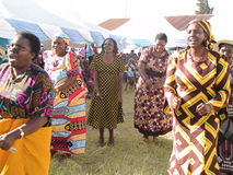 Donne africane nelle nozze Immagine Stock