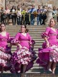 Donne al festival di ballo di flamenco in Spagna Immagine Stock Libera da Diritti